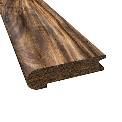 Prefinished Tobacco Road Hardwood 3/4 in thick x 3.125 in wide x 6.5 ft Length Stair Nose