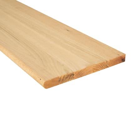 Unfinished Builder Grade Red Oak Solid Hardwood 48 in Length Tread