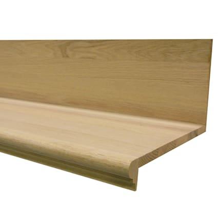 Unfinished Red Oak Solid Hardwood 36 in Length Retro Fit Tread & Riser