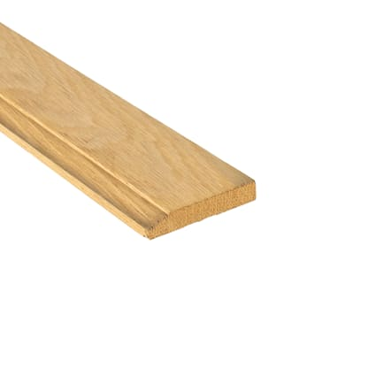 Unfinished White Oak Hardwood 9/16 in thick x 3.25 in wide x 8 ft Baseboard