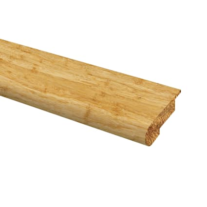 Prefinished Strand Natural Bamboo 1/2 in thick x 9/16 in wide x 72 in Length Stair Nose