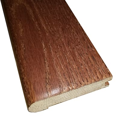 Prefinished Cherry Oak Hardwood 3/4 in thick x 3.125 in wide x 78 in Length Stair Nose