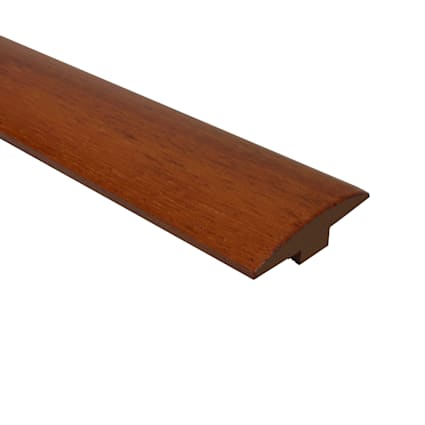 Prefinished Brazilian Cherry Hardwood 1/4 in thick x 2 in wide x 78 in Length T-molding