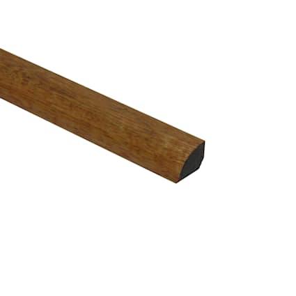 Prefinished Golden Teak Tamboril Hardwood 1/2 in thick x .75 in wide x 78 in Length Shoe Molding