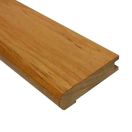 Prefinished Golden Teak Tamboril Hardwood 3/4 in thick x 3.125 in wide x 78 in Length Stair Nose