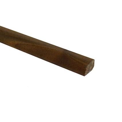 Prefinished Matte Brazilian Pecan Hardwood 1/2 in thick x .75 in wide x 78 in Length Shoe Molding
