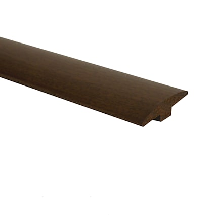 Prefinished Matte Brazilian Pecan Hardwood 1/4 in thick x 2 in wide x 78 in Length T-Molding