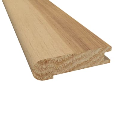 Prefinished Matte Hickory Hardwood 3/4 in thick x 3.125 in wide x 78 in Length Stair Nose