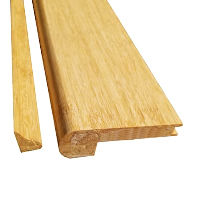 Prefinished Natural Strand Bamboo 1/2 in thick x 3.25 in wide x 72 in Length Flush Stair Nose