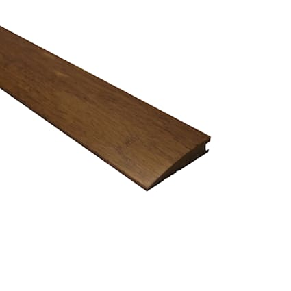 Prefinished Carbonized Strand Bamboo 1/2 in thick x 2.25 in wide x 72 in Length Reducer