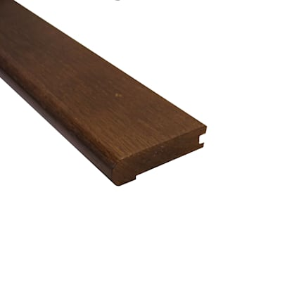 Prefinished Mocha Oak Hardwood 3/4 in thick x 3.125 in wide x 78 in Length Stair Nose