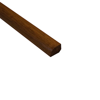 Prefinished Sugar Mill Hickory Hardwood 1/2 in thick x .75 in wide x 78 in Length Shoe Molding