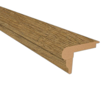 Antique Farmhouse Hickory Laminate 2.3 in wide x 7.5 ft Length Flush Stair Nose