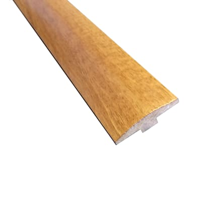 Prefinished Amber Brazilian Oak Hardwood 1/4 in thick x 2 in wide x 78 in Length T-Molding