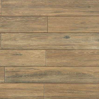 36 in. x 6 in. Autumn Oak Porcelain Tile