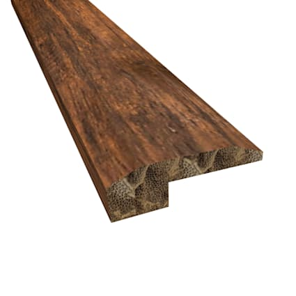 Prefinished Roasted Almond Distressed Bamboo 0.625 in thick x 2.125 in wide x 72 in Length Threshold