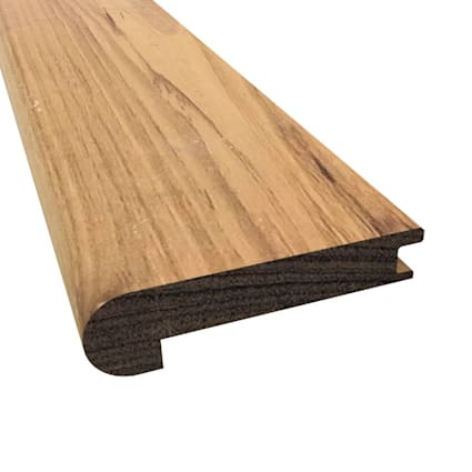 Prefinished Matte Brazilian Pecan Hardwood 1/2 in thick x 2.75 in wide x 78 in Length Stair Nose