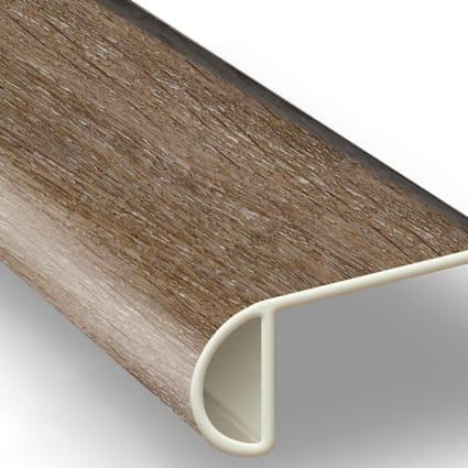 Malted Oak Vinyl Waterproof 2.25 in wide x 7.5 ft Length Low Profile Stair Nose