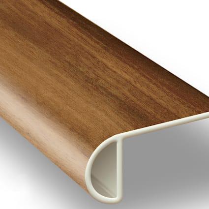 Golden Teak Vinyl Waterproof 2.25 in wide x 7.5 ft Length Low Profile Stair Nose