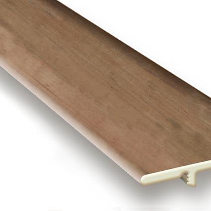 Rustic Reclaimed Oak Vinyl Waterproof 1.5 in wide x 7.5 ft Length End Cap