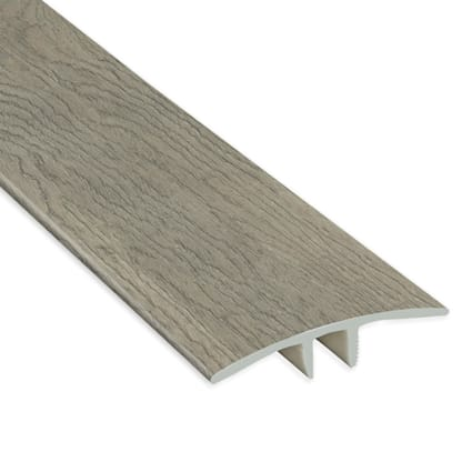Driftwood Hickory Vinyl Waterproof 1.75 in wide x 7.5 ft Length T-Molding