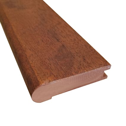 Prefinished Matte Brazilian Chestnut Hardwood 3/4 in thick x 3.125 in wide x 78 in Length Stair Nose