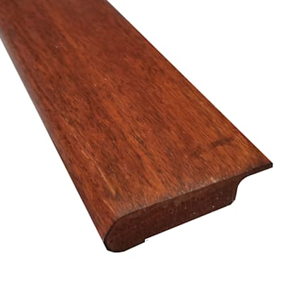 Prefinished Golden Acacia Hardwood 1/2 in thick x 2.75 in wide x 78 in Length Overlap Stair Nose