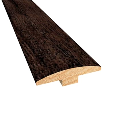 Prefinished Distressed Belmont Hickory Hardwood 1/4 in thick x 2 in wide x 78 in Length T-Molding