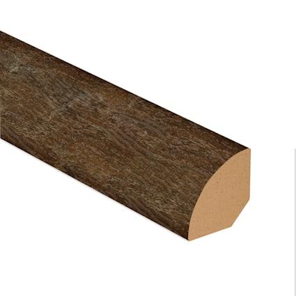 Copper Barrel Oak Vinyl 1.075 in wide x 7.5 ft Length Quarter Round