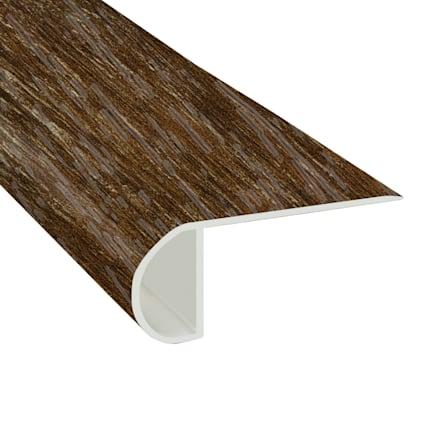 Copper Barrel Oak Vinyl Waterproof 2.25 in wide x 7.5 ft Length Low Profile Stair Nose