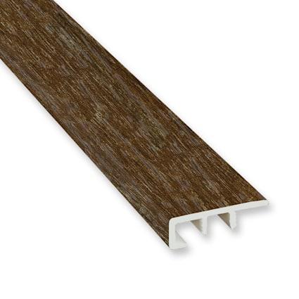 Copper Barrel Oak Vinyl Waterproof 1.5 in wide x 7.5 ft Length End Cap