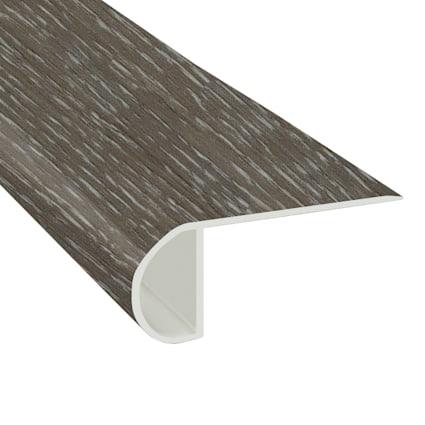 Fieldstone Oak Vinyl Waterproof 2.25 in wide x 7.5 ft Length Low Profile Stair Nose