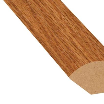 Butterscotch Oak Vinyl 0.75 in wide x 7.5 ft length Quarter Round
