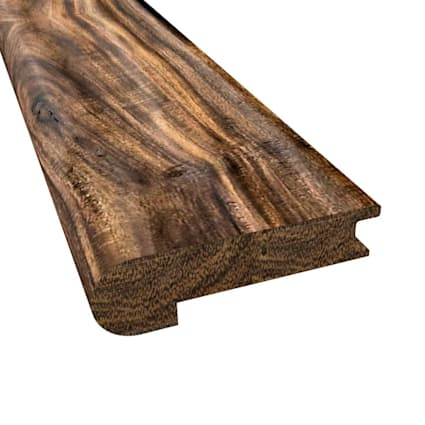 Prefinished Tobacco Road Acacia Hardwood 9/16 in thick x 2.75 in wide x 78 in Length Stair Nose