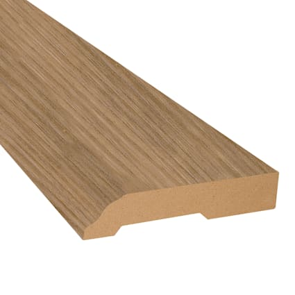 Mojave Hickory Vinyl 3.25 in wide x 7.5 ft Length Baseboard