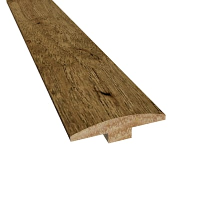 Prefinished Copper Ridge Hickory Hardwood 1/4 in thick x 2 in wide x 78 in Length T-Molding