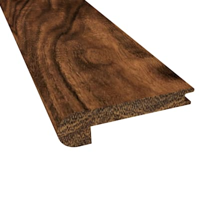 Prefinished Distressed Natural Acacia Hardwood 3/8 in thick x 2.75 in wide x 78 in Length Stair Nose