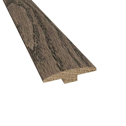 Prefinished Gray Fox Oak Hardwood 1/4 in thick x 2 in wide x 78 in Length T-Molding