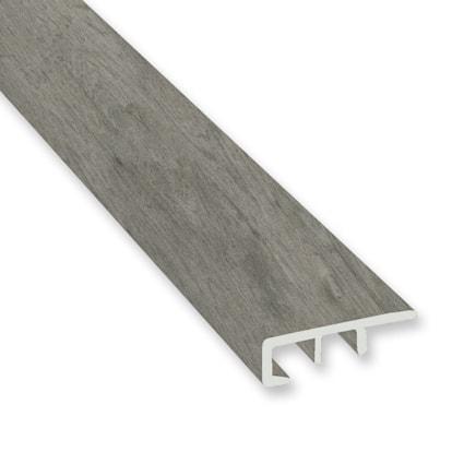 Stormy Gray Oak Vinyl Waterproof 1.5 in wide x 7.5 ft Length Low Profile End Cap