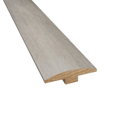 Prefinished Monterey Bay Hickory Hardwood 1/4 in thick x 2 in wide x 78 in Length T-Molding
