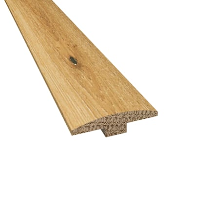Prefinished Whispering Wheat Oak Hardwood 1/4 in thick x 2 in wide x 78 in Length T-Molding