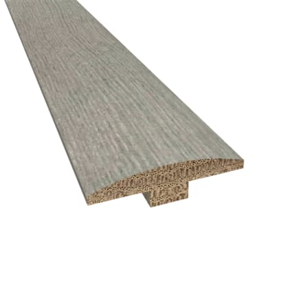 Prefinished Distressed Cashmere Hardwood Gray Oak 1/4 in thick x 2 in wide x 78 in Length T-Molding