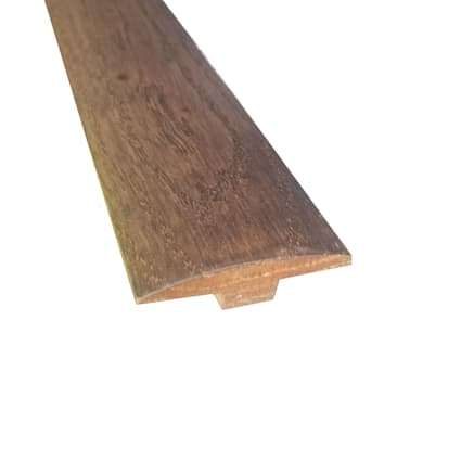 Prefinished Distressed Enchanted Hardwood Forest Oak 1/4 in thick x 2 in wide x 78 in Length T-Moldi