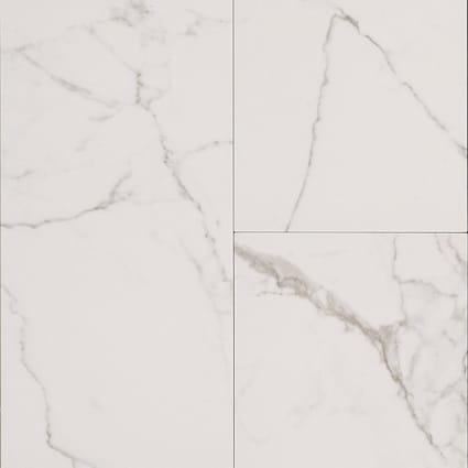 24 in. x 12 in. Bianca Carrara Porcelain Tile
