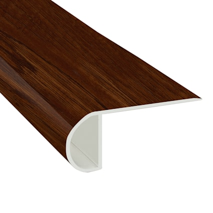 Homeland Hickory Vinyl Waterproof 2.25 in wide x 7.5 ft Length Low Profile Stair Nose