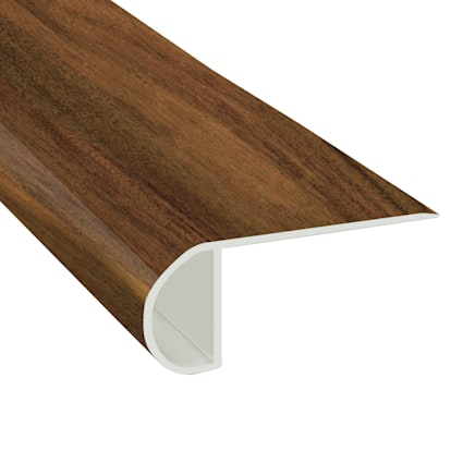 Tobacco Road Acacia Vinyl Waterproof 2.25 in wide x 7.5 ft Length Low Profile Stair Nose