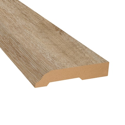 Country Bluff Oak Vinyl 3.25 in wide x 7.5 ft Length Baseboard