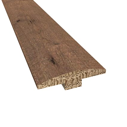 Prefinished Athens White Oak Hardwood 1/4 in thick x 2 in wide x 78 in Length T-Molding