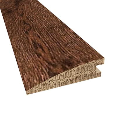 Prefinished Milan White Oak Hardwood 5/8 in thick x 2.25 in wide x 78 in Length Reducer
