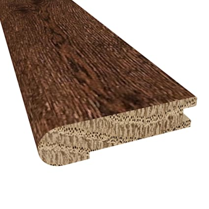 Prefinished Milan White Oak Hardwood 5/8 in thick x 2.75 in wide x 78 in Length Stair Nose